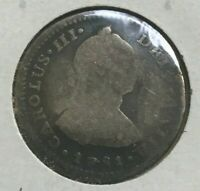1781 MO FF MEXICO 1 ONE REAL   DAMAGED SILVER