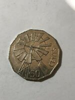 COIN -AUSTRALIAN 50 CENT COIN 2002 - YEAR OF THE OUTBACK WINDMILL 162