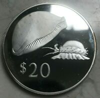 1978 FIJI 20 DOLLARS SILVER PROOF   IMPERFECT