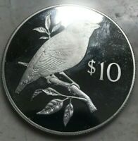 1978 FIJI 10 DOLLARS SILVER PROOF   IMPERFECT