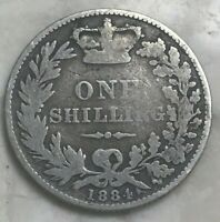 1884 GREAT BRITAIN 1 ONE SHILLING