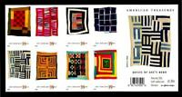 1 WONDER'S  UNFOLDED MNH BOOKLET W/ 39 QUILTS OF GEE'S BEND