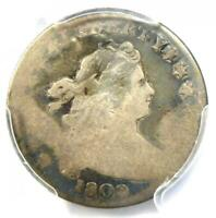 1802 DRAPED BUST DIME 10C JR-2 - CERTIFIED PCGS AG DETAILS -  DATE COIN