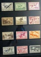 1936 1947 US DUCK STAMP SET OF 12V S RW3 14 CHOICE LOT OF US