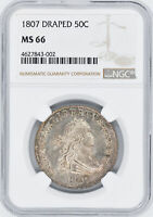 1807 DRAPED BUST 50C NGC MINT STATE 66