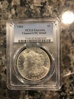 MORGAN SILVER DOLLAR 1884 P PCGS GENUINE  - UNC DETAILS CLEANED
