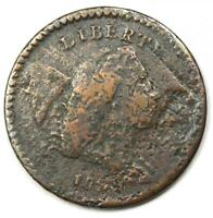 1794 LIBERTY CAP FLOWING HAIR HALF CENT 1/2C COIN - VG / FINE DETAIL CORROSION
