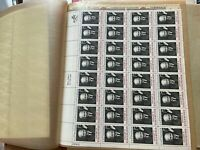 US MINT STAMP COLLECTION  IN THE FOLDER BLOCKS FULL SHEETS N