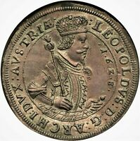 1 THALER 1628/6 LEOPOLD V COUNTY OF TYROL AUSTRIAN STATES TO