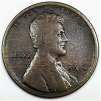 1914 D LINCOLN WHEAT CENT PENNY BEAUTIFUL COIN RARE DATE