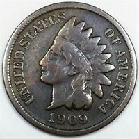 1909 S INDIAN HEAD PENNY BEAUTIFUL COIN RARE DATE