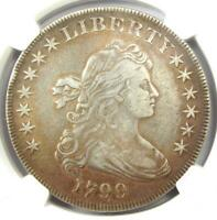 1799 DRAPED BUST SILVER DOLLAR $1 COIN - CERTIFIED NGC EXTRA FINE  DETAILS EF