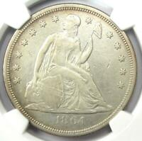 1864 SEATED LIBERTY SILVER DOLLAR $1 - NGC EXTRA FINE  DETAIL EF - CIVIL WAR DATE COIN