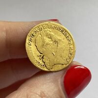 EXTREMELY RARE 1722 GEORGE I HALF GUINEA 22CT GOLD COIN   VE