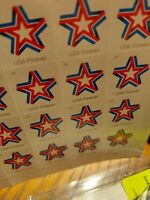 FOREVER STAMPS 100 STARS FREE SHIPPING TO USA
