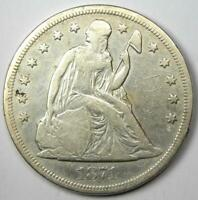 1871 SEATED LIBERTY SILVER DOLLAR $1 - CHOICE VF / EXTRA FINE  DETAILS-  EARLY COIN