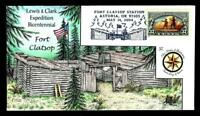 1 WONDER  COLLINS HAND PAINTED FDC W/ COVER 37 LEWIS & CLARK