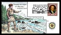 1 WONDER  COLLINS HAND PAINTED FDC W/ COVER 34 LEWIS & CLARK