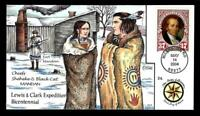 1 WONDER  COLLINS HAND PAINTED FDC W/ COVER 24 LEWIS & CLARK