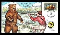 1 WONDER  COLLINS HAND PAINTED FDC W/ COVER 16 LEWIS & CLARK
