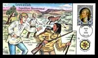 1 WONDER  COLLINS HAND PAINTED FDC W/ COVER 15 LEWIS & CLARK
