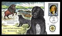 1 WONDER  COLLINS HAND PAINTED FDC W/ COVER 14 LEWIS & CLARK