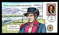 1 WONDER  COLLINS HAND PAINTED FDC W/ COVER 13 LEWIS & CLARK
