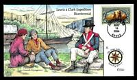1 WONDER  COLLINS HAND PAINTED FDC W/ COVER 8 LEWIS & CLARK