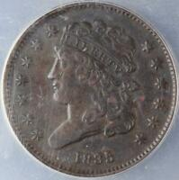 1835 CLASSIC HEAD HALF CENT ANACS VF 35 - GREAT DETAILS DOUBLEJCOINS 3000-41