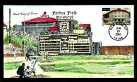 1 WONDER  COLLINS HAND PAINTED FDC W/ FORBES BASEBALL FIELD