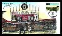 1 WONDER  COLLINS HAND PAINTED FDC W/ COMISKEY BASEBALL PARK
