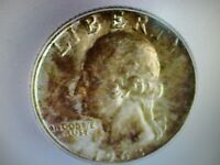 1963 WASHINGTON SILVER 25 CENTS ICG MINT STATE 66 LISTS $75.00
