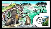 1 WONDER  COLLINS HAND PAINTED FDC W/ CALIFORNIA STATEHOOD