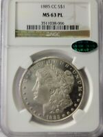 1885 CC $1 NGC MINT STATE 63PL  CAC 3511038-006