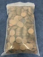 LOT OF 900 LINCOLN WHEAT CENT PENNIES $9 FACE VALUE MIXED YE