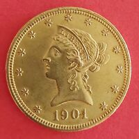 UNITED STATES GOLD COIN 1901 S10 EAGLE AU GOLD 16.7 G