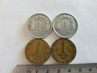 LOT OF 4 CHILE COINS PESO 1956 1957 1978
