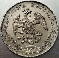 8 REALES 1897 ZS FZ MEXICO FEDERAL REPUBLIC EAGLE WITH SNAKE