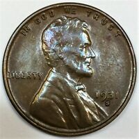 1931 S LINCOLN WHEAT CENT PENNY BEAUTIFUL HIGH GRADE COIN RA