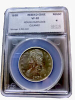 1838 CAPPED BUST HALF DOLLAR REEDED EDGE