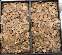 BAG OF UNSEARCHED 1909 1919 WHEAT CENTS 5000 P.D.S. MINT MAR