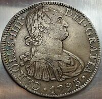 8 REALES 1793 FM CHARLES IV FIRST DATE MEXICO SPANISH COLONY