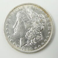 1896 O US MINT MORGAN SILVER $1 DOLLAR COIN  ABOUT UNCIRCULATED  FREE SHIP