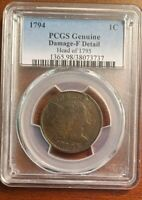 1794   LIBERTY CAP LARGE CENT   NGC F DETAILS.  LOW SHIPPING