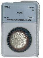 1882 O MORGAN DOLLAR LUSTROUS SILVER BEAUTIFUL STRONG STRIKE GREAT COLOR RINGS