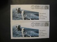 USPS SPACE FDCS LOT OF 2 LEGAL SIZE ENVELOPES FROM 1999