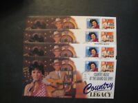 USPS COUNTRY LEGACY'S FDCS LOT OF 4 LEGAL SIZE ENVELOPES UNS