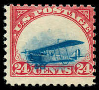 MOMEN: US STAMPS C3 AIRMAIL UNUSED GROUNDED PLANE
