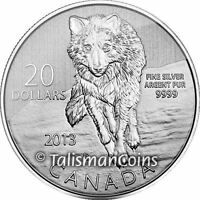 CANADA 2013 $20 COMMEMORATIVE 9 WOLF WILDLIFE PURE SILVER SPECIMEN FULL OGP