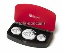 AUSTRALIA 2013 YEAR SNAKE LUNAR ZODIAC 3 COIN $1 PURE SILVER DOLLAR PROOF SET